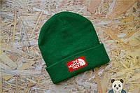 Стильная мужская шапка The North Face Beanie зеленый