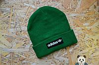 Молодежная мужская шапка адидас,Adidas зеленая