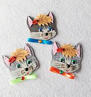Набор нашивок на одежду  котик  (3 штуки),