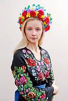 Украинский веночек  мак. калина,ромашка,розы Киев