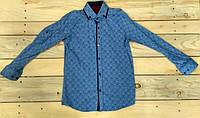 Рубашка на мальчика голубая 12-14 лет на 14 лет