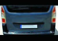 Накладки на задний бампер (нерж.) - Peugeot Partner Tepee (2008+)