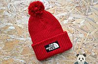 Яркая молодежная шапка с бубоном The North Face Beanie