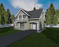 MS146 Проект дома с балконом и  монсардным этажом