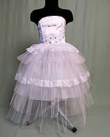 """Белое корсетное платье для девочки """"Жемчужинка"""""""