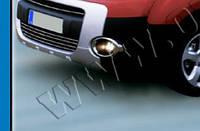 Окантовка противотуманок (2 шт, пласт) - Peugeot Partner Tepee (2008+)
