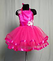 """Нарядное корсетное платье с украшениями ручной работы """"канзаши"""""""