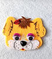 Нашивка на одежду  собачка рыжая