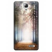 Чехол  для Lenovo A536 A538t Утренний пейзаж в лесу