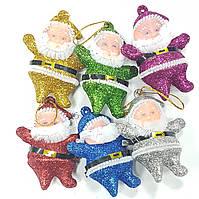 Новогодний декор деды морозы(6шт)