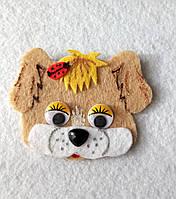 Нашивка на шапку  собачка