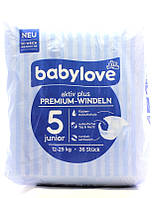 Подгузники Babylove 5 Junior (12-25 кг) 36шт (Германия)