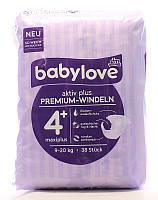 Подгузники Babylove 4+ Maxiplus (9-20 кг) 38шт (Германия)