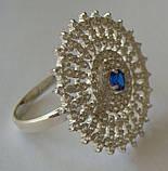 Кільце 110910ЮМ, срібло 925 проба, кубічний цирконій., фото 7