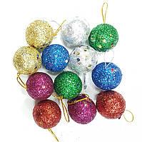 Новогодний декор шарики (12шт)