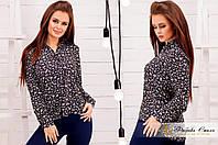 Стильная женская рубашка с цветочным принтом