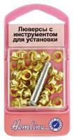 Люверсы с устройством для установки, золото, 40 шт