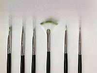 Набор кисточек для росписи и дизайна ногтей 6шт.