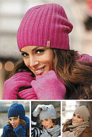 Модный комплект: шерстяная шапка и снуд Paula.