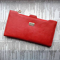 Кошелек женский Bogesi. Красный и черный. Большой кошелек. Красный