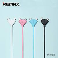 USB кабель 2 в 1 Remax Lightning + Micro-USB (4 цвета) (RC-031t)