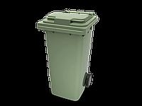 Передвижной мусорный контейнер 120 л с крышкой