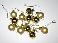 Набор новогодних шариков 12 шт. золото