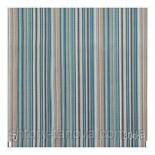Ткань для штор в стиле прованс полоска бирюза