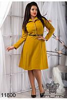Модное женское  плать с поясом (48-54), доставка по Украине