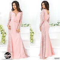 Платье в пол с легким шлейфом, в комплекте с декоративным пояском
