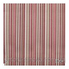 Ткань для штор в полоску розовую с тефлоновой пропиткой для штор, скатертей, чехлов Турция ширина 180 см