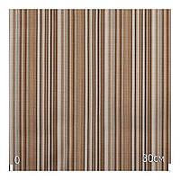 Красивая ткань для штор полоска коричневый