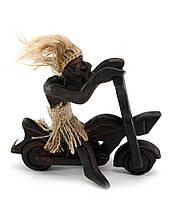 Фигурка деревянная Байкер