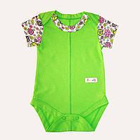 Боди для новорожденных зелёное