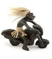 Статуэтка деревянная Байкер