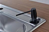Дозатор моющего средства BLUE WATER черный глянец, фото 1