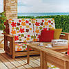 Ткань для штор цветы оранжевый