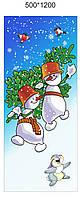 Новогоднее украшение Баннер Снеговик
