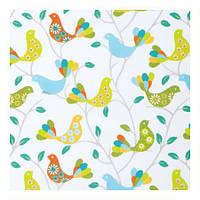 Красивые шторы в стиле прованс птицы зленый