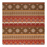 Красивая ткань для штор узор коричневый