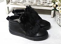 Ботинки ушки натуральная опушка кролик
