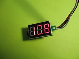 Цифровой вольтметр DC 0-100V, красная индикация без корпуса (питание индикатора 4-30V)