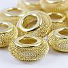 Бусины Проволочные, Железные, Рондель, Цвет: Золото, Размер: 28х11мм, Отверстие 7мм, (УТ0028137)