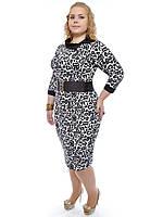 Платье большего размера леопардовое