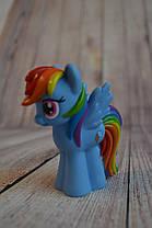 Резиновые Пони/ My Little Pony 3 вида (10 см) Радуга