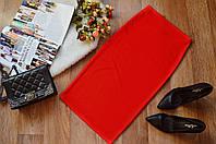 Стильная женская юбка(48-52)  однотонная красная
