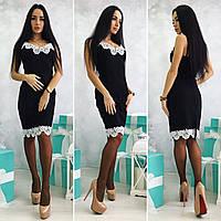 Платье с белым кружевом