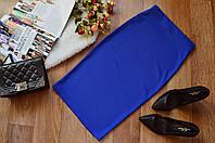 Стильная женская юбка  однотонная синяя