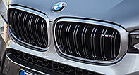 Решетка радиатора ноздри BMW X6 F16 стиль M Sport Paket хром окантовка