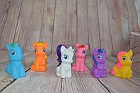 Резиновые Пони/ My Little Pony 6 шт (7 см)